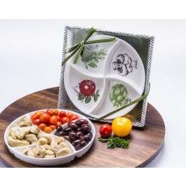 "A93045 ""Four Seasons"" Serving / Dipping Platter"