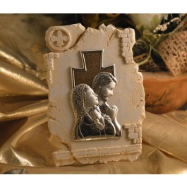 RL860 Holy Family icon on a Marble dust texture stand