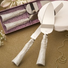 2476 Fairytale design  Cinderella themed stainless steel Cake cutter and knife set