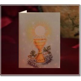 GL368 Italian First Communion Card Bomboniere