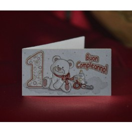 D506 First Birthday Favor tag Bigliettini