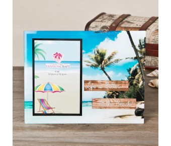12131 Life is Better at the Beach glass frame 4x6