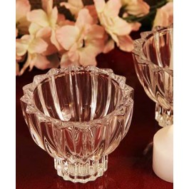 "RB6954 ""Traditional Design"" Crystal Votive Candle Holder"