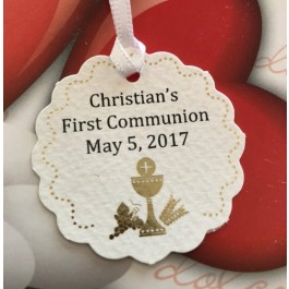 NT103 Italian First Communion Favor Tag Bigliettino