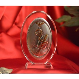 RL120VOItalian Silver Confirmation icon on a glass stand