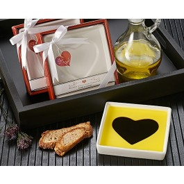 "A93010 ""Love Infused"" Olive Oil and Balsamic Vinegar Dipping Plate"