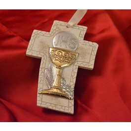 RL4300 First Holy Communion Hanging Cross Made in Italy