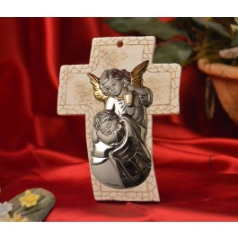 RL4600 Guardian Angel Standing Cross Made in Italy