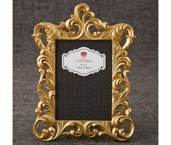 12862 Gold Metallic baroque frame 5x7 from gifts by fashioncraft