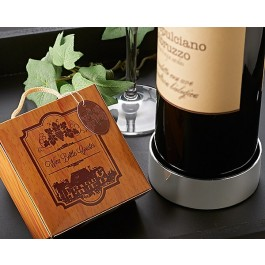"A42012 ""Vineyard Estate"" Wine Bottle Coaster"