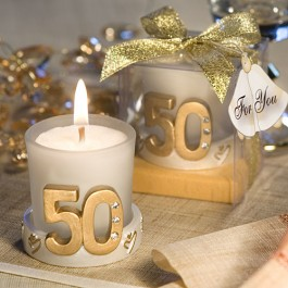 3971 Golden Anniversary Candle Favors