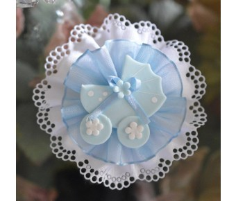 CF77 Confetti Flower with carriage Baby Shower almond favors
