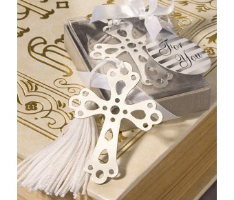 6475 <i>Book Lovers Collection</i> Cross Bookmark Favors