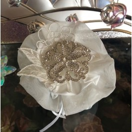 HC170 Haute Couture Pouch Wedding favors Bomboniere with rhinestone Brooch
