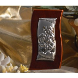 RL400 Italian Silver Angels icon on a wood stand
