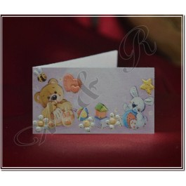 B043 Baby Shower Italian Favor Tags Bigliettini