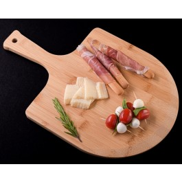 Gourmet Pizza Peel and Charcuterie Board by myitalianfavors.com