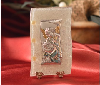 85MUR Made in Italy Guardian Angel on a Murano Glass Stand