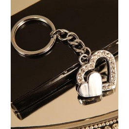"RB1032 ""Two Hearts"" Heart Shaped Key Chain"