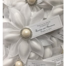 CF967 Italian Confetti Flower with pearl button