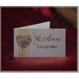D337 25Th Wedding Anniversary Favor Tag