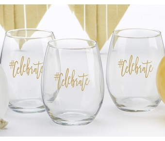 30023NA-BRM1 Bridesmaids Beach Tides 15 oz. Stemless Wine Glass (Set of 4)