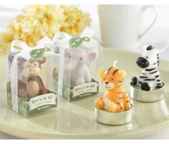 "20124AS ""Born to be Wild"" Animal Candles (Set of 4, Assorted)"