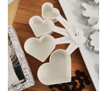 "RB1148 ""Recipe for Love"" Heart Shaped Measuring Cup Set"
