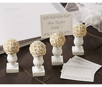 "A41009 ""Rose Blossoms"" Place Card/Photo Holder (4 Pack)"