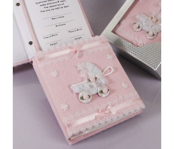 "RB6083PK ""Treasured Moments"" Pink Photo Album"