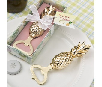 8975 Warm Welcome Collection gold pineapple themed bottle opener