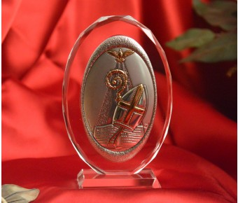 RL120VO Italian Silver Confirmation icon on a glass stand