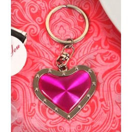 "RB1169 ""Joyful Heart"" Pink Heart Key Chain"