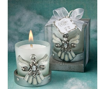 5445 <em>Regal Favor  Collection</em> Angel Themed Candle Holders