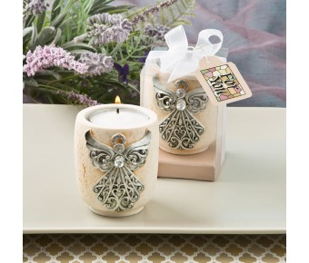 5496 Exquisite angel design candle tea light holder from fashioncraft