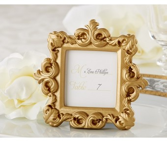 "25158GD ""Royale"" Gold Baroque Place Card/Photo Holder"