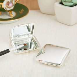 52011 Silver plated square Compact Mirror