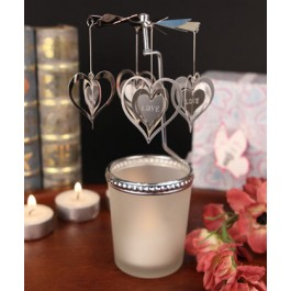 """RB1151 """"The Heart goes 'Round"""" Spinning Heart Candle"""
