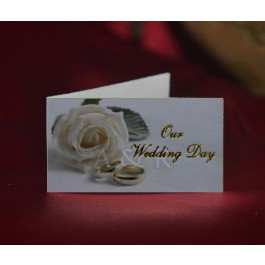 M460E Wedding Bigliettini Favor Tags Rose and Rings