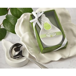 "A93022 ""The Perfect Pair"" Porcelain Spoon Rest"