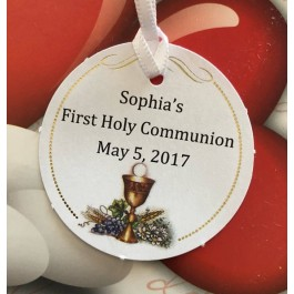 NT102 Italian First Communion Favor Tag Bigliettino