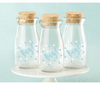 27037NA-RR Personalized Glass Favor Jars - Kate's Rustic Bridal Shower Collection (Set of 12)