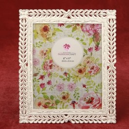 12877 Magnificent Ivory with rose Gold lattice 8 x 10 frame