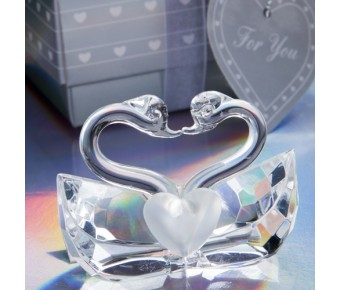 2245 <em>Choice Crystal Collection</em> Kissing Swans