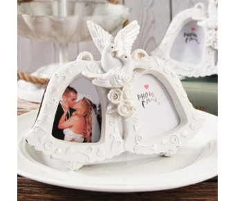 "RB7592 ""Love Birds"" Double Bell Photo Frame"