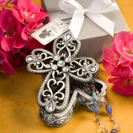 8630 Cross Design Curio Boxes From The Heavenly Favors Collection