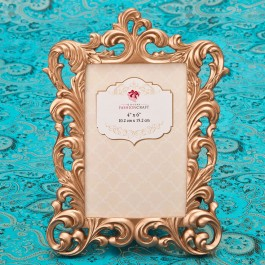 12838 Magnificent Rose Gold Baroque 4 x 6 frame from gifts by fashioncraft