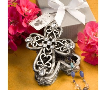 8630 Cross Design Curio Boxes From The <em>Heavenly Favors Collection</em>