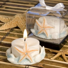 8309 Starfish Design Favor Saver Candle Favors