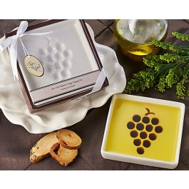 "A93011 ""Vineyard Select"" Olive Oil and Balsamic Vinegar Dipping Plate"